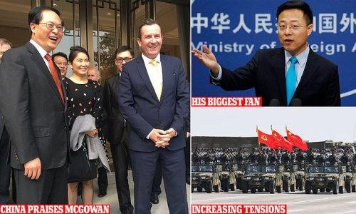 China lauds WA Premier for sucking up to Beijing