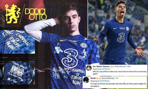 Chelsea fans slam limited-edition shirt marking Champions League win
