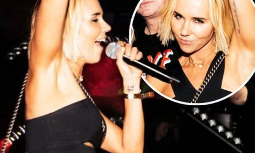 Pip Edwards storms the stage with Sneaky Sound System at dance party