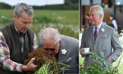 Prince Charles dons designer shades and a sharp suit on farm visit