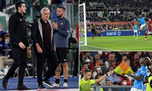 Mourinho is SENT OFF as Roma are held to a goalless draw by Napoli