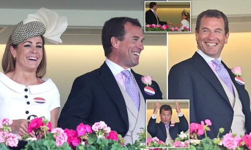Peter Phillips looks cheerful with Natalie Pinkham at Royal Ascot