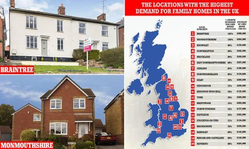 We reveal the locations with the highest demand for family homes