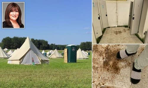 SARAH VINE: Don't be fooled by 'glam' of glamping