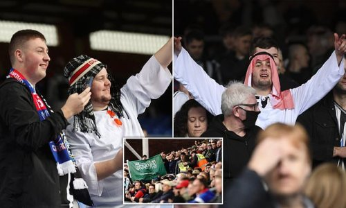 Newcastle REVERSE decision to ban Arab headdresses as fans dress up