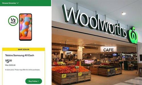 Woolworths is selling $5 Samsung Galaxy PHONES