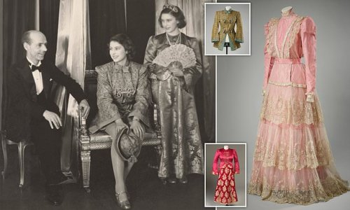 Queen's fairytale pantomime dress from the Second World War