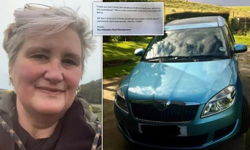 Woman furious after snobby resident leaves note about Skoda