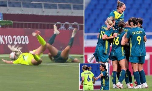 Olympics fans rage as the Matildas' Sam Kerr is denied vital penalty