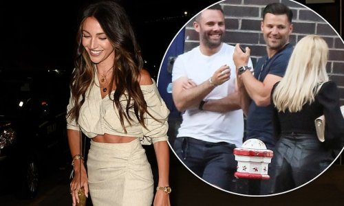 Michelle Keegan puts on a leggy display as she celebrates her birthday