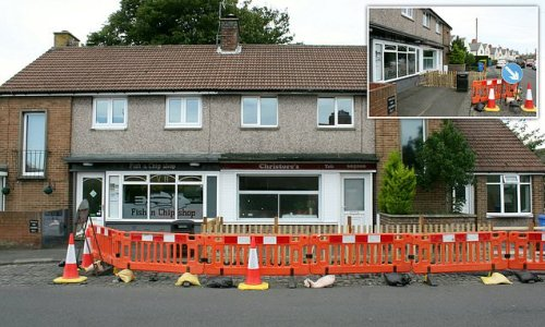 Man erects a 4ft FENCE to stop people sitting on his windowsill to eat