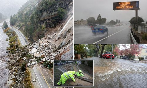 California areas hit by fires now evacuates due to mudslide and flood