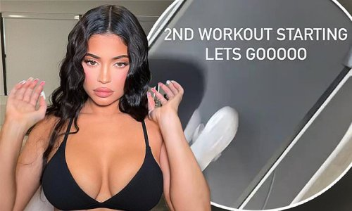 Kylie Jenner reveals she works out TWICE a day to keep her curves