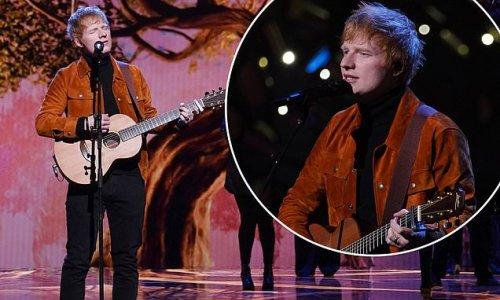 Ed Sheeran performs Visiting Hours during Earthshot Prize awards