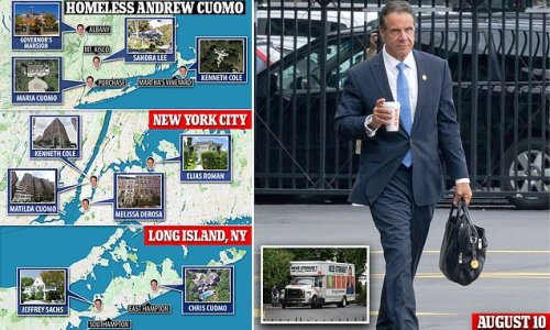 Andrew Cuomo has not been seen since leaving the governor's mansion