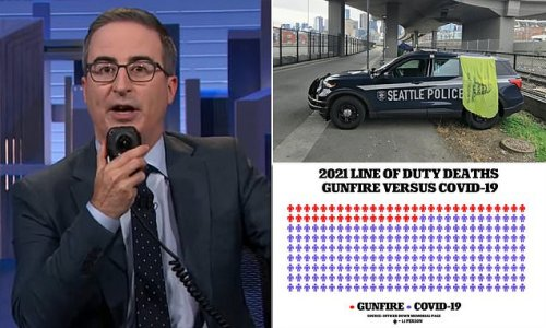 John Oliver blasts cops who refuse to get COVID vaccine
