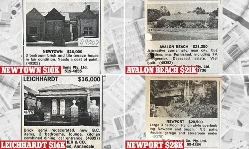 Classified ads in 1972 show a three-bed city terrace was just $10,000