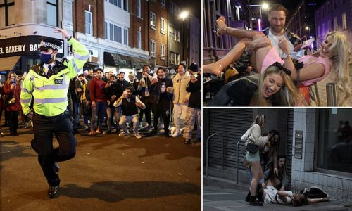 Stupor Saturday: Revellers are met by police as they spill out of bars