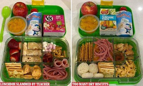 Mum slams 'unprofessional' teacher for criticising her son's lunchbox