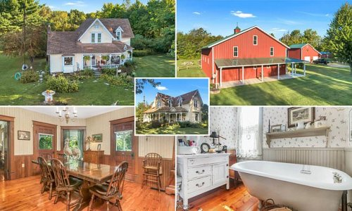 Four bedroom 1880′s Victorian home with blueberry farm for $595,000