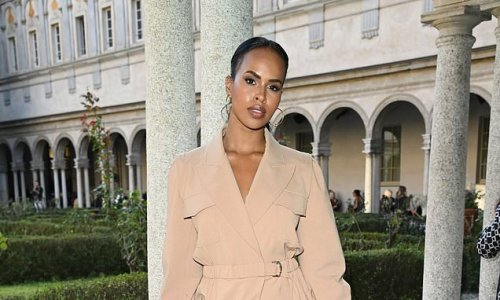 Idris Elba's wife Sabrina wows in plunging nude jumpsuit