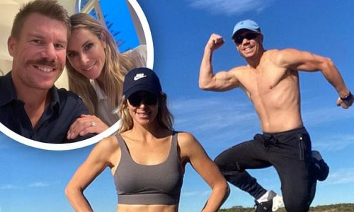 Candice Warner and David Warner show off their incredibly fit figures