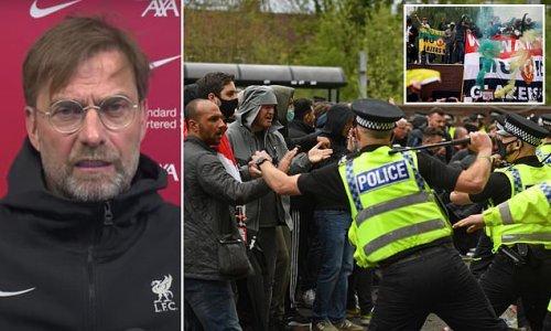 Jurgen Klopp says Old Trafford protests crossed a line