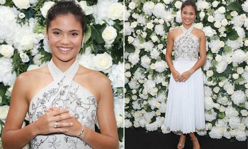 Emma Raducanu, 18, wows in a white outfit at London Fashion Week