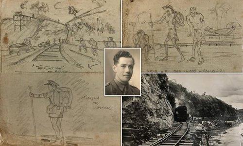 British captain's sketches depict plight of PoWs on 'death railway'