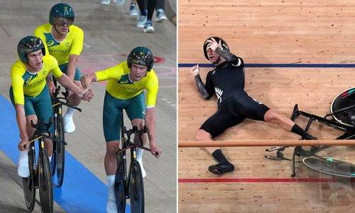 Epic crash hands Australia bronze in the men's team cycling pursuit