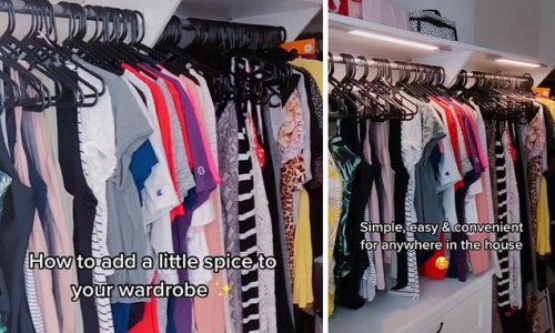 Mum transforms her wardrobe using a $37 LED light from Amazon