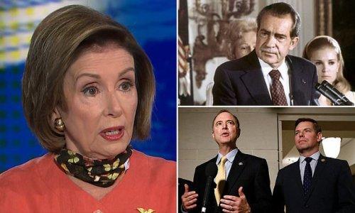 Pelosi says Trump DOJ seizing lawmakers cell data goes 'beyond' Nixon