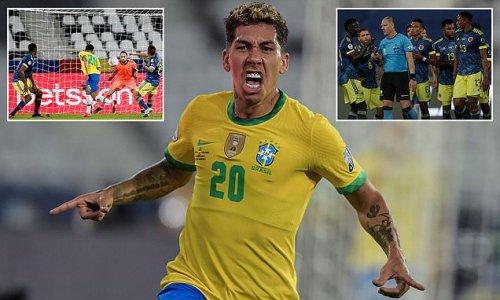 Brazil 2-1 Colombia: Firmino and Casemiro seal controversial win