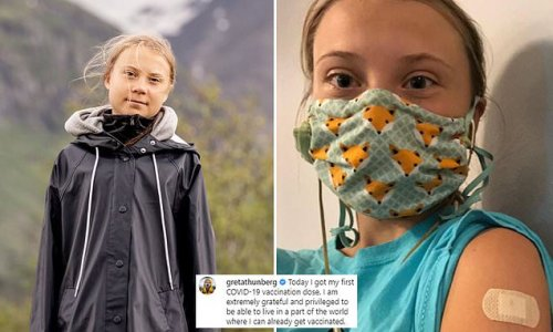 Greta Thunberg gets her first Covid vaccination