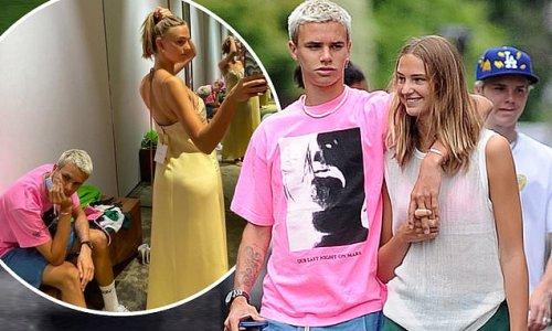 Romeo Beckham and Mia Regan enjoy romantic London stroll