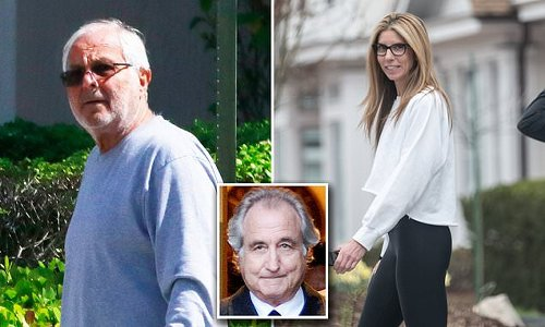 Peter Madoff and his daughter Shana pictured following Bernie's death