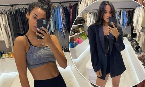 Rochelle Humes floors fans as she shows off her walk-in wardrobe