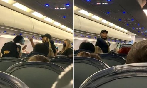 The moment two women get into brawl on Spirit Airlines flight