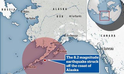 8.2 magnitude earthquake hits off the coast off Alaska