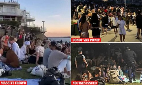 Not ONE Bondi partygoer is fined after hundreds flocked to the beach