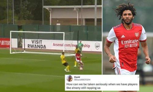 Arsenal fans fume at Mohamed Elneny's error in friendly win vs Watford