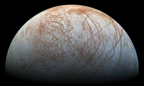 Jupiter's moon Europa may have pockets of water in its icy shell