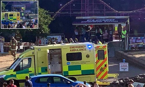 Four children rushed to hospital after fairground ride collapses