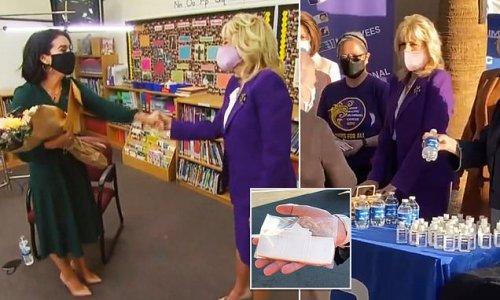 Jill Biden surprises national teacher of year and gives nurses cookies