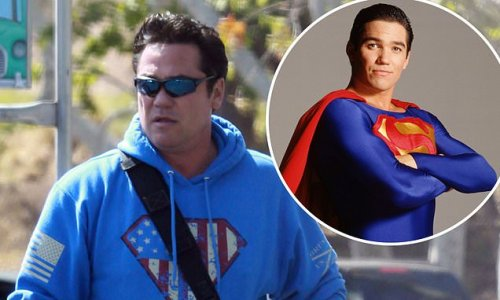 Dean Cain, 54, steps out wearing Superman-style hoodie