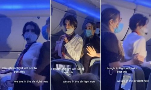 Airplane Karen' used microphone to deliver mid-flight anti-Covid rant