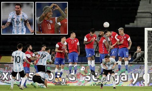 Lionel Messi scores jaw-dropping free-kick for Argentina against Chile