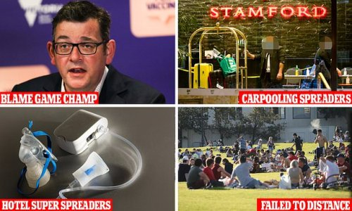 Dan Andrews adds world record of BLAME shifting to his list of titles