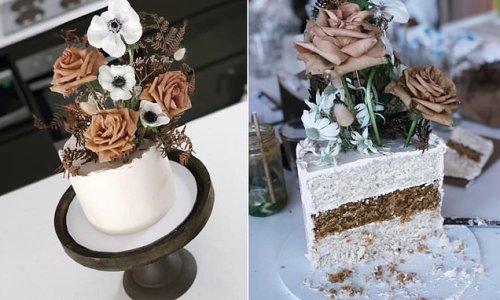 Mother makes incredible baby shower dessert using Woolworths mud cakes