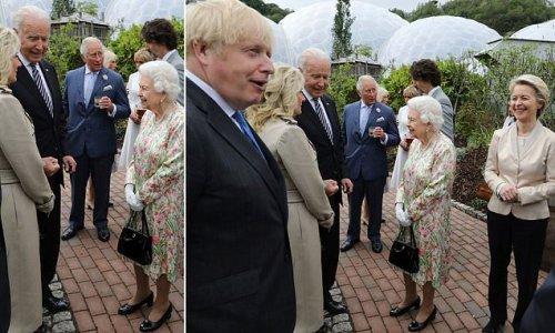 Joe Biden appears to break protocol at G7 reception